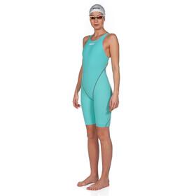 arena Powerskin St 2.0 Short Leg Open Full Body Suit Women aquamarine